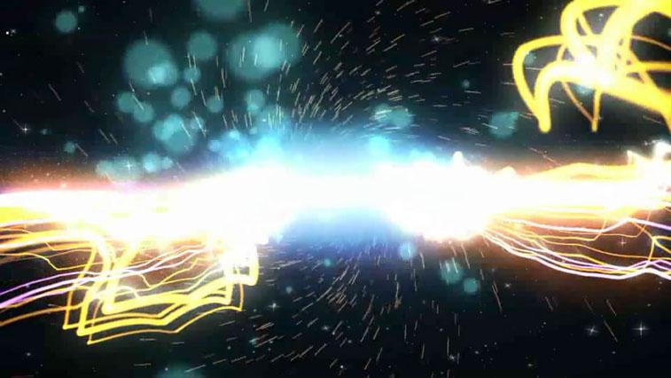 《绚丽粒子爆炸Logo展示AE模板》Particular Space Reveal