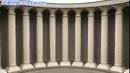 旋转的平面门柱高清静态视频素材