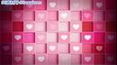 红色爱心盒滚动闪烁婚庆LED背景 高清动态视频素材