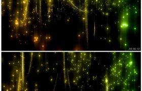 酷炫暗黑黄绿粒子飞舞转动闪光背景10 高清动态视频素材