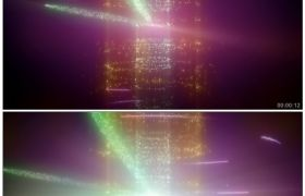 酷炫粒子闪光舞台 高清动态视频素材