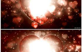 唯美爱心满天闪 浪漫婚礼庆典适用配景 高清静态视频素材