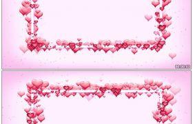 唯美爱心相框 浪漫婚庆高清静态视频素材