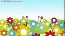 唯美花瓣伸展6 儿童卡通花朵争艳生长动画背景 高清动态视频素材