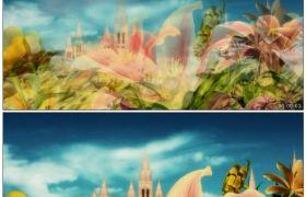 唯美花瓣盛开 浪漫鲜花盛开梦幻童话国度 高清动态视频素材