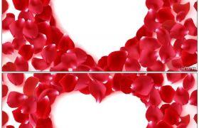 唯美鮮花花瓣繚繞成愛心形狀 婚禮婚慶常用高清動態視頻