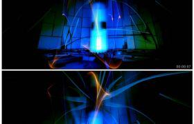 旋转柱舞台灯光背景 高清动态视频素材