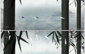 竹露荷风21 动态竹子云端梦境高清动态视频素材