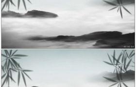 竹露荷风27 竹叶梦幻云山?#21024;?#27700;墨中国风背景高清动态视频素材