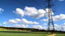 风和日丽下的高压架 电线1 高清实拍视频素材