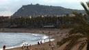 海边沙滩游玩1 高清实拍视频素材