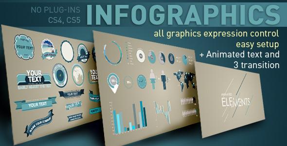 《圖文文本圖表分析展示AE模板》Infographics