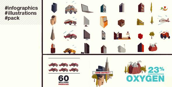 《图文展示信息分析AE模板》Infographics Illustrations