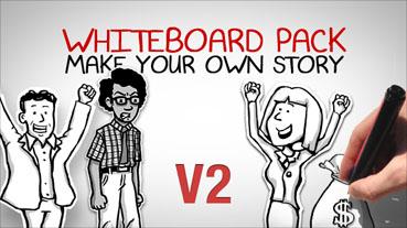 手绘漫画故事广告宣传AE模板Whiteboard Pack-Make Your Own Stor