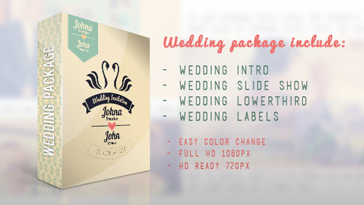 《婚庆视频包装AE模板》Wedding Package