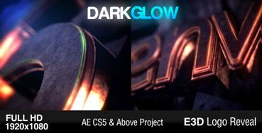 《3D金属黑暗发光Logo标识展现AE模板》Dark Glow Logo Reveal