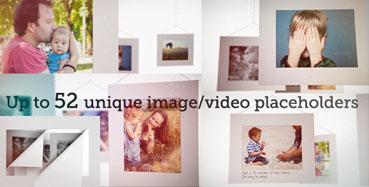 《独特的照相馆玄幻背景相片展示AE模板》Camera Bokeh