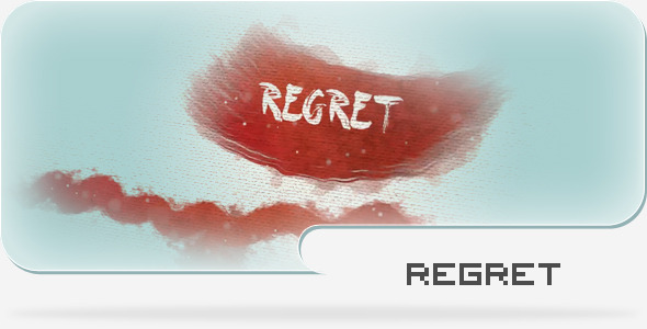 水墨风格画布展示AE模板 Regret - A Paint and Canvas Template