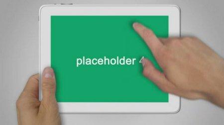 《平板手触到画面展示AE模板》Animated Ipad