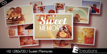 《相册墙儿童相片展示AE模板》Sweet Memories