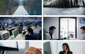 企业宣传片 电子商务数据上升 实拍现代化办公室打电话上网数据库