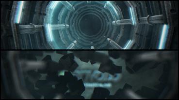 《科技机械墙破裂Logo标志展示AE模板》Mechanical SiFi Logo