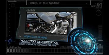 《高科技殊效图文切换展现AE模板》Animatronix