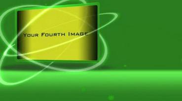 《绿色背景图文Logo展示AE模板》Green intro