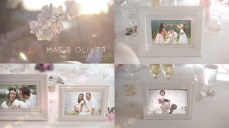 《唯美白色相册婚礼写真展示AE模板》White Photo Gallery