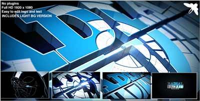 《创意Logo标志展示AE模板》Radial Build Logo