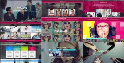 《企業宣傳項目介紹的AE模板》Creative Corporate