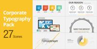 《卡通版印刷包装公司广告宣传AE模板》Corporate Typography Pac