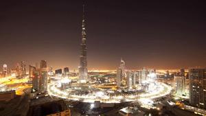 ?#20064;?4小时城市实拍 时间快速流逝 ?#20064;?#20840;景白天到夜晚灯光亮起