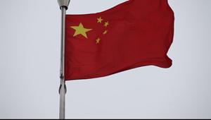 中国国旗五星红旗迎风飘扬的特写镜头 高清实拍视频素材