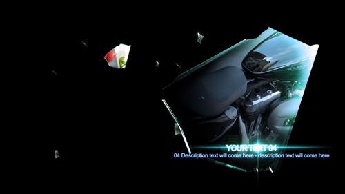 《破碎的玻璃相册展示 AE模板》SHARP
