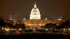 燈火通明的白宮夜景攝影