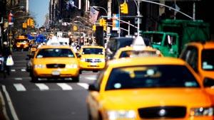 美国纽约城市街道车流实拍视频素材