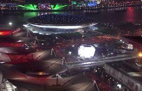 上海世博会 标清航拍上海城市夜景 东方明珠