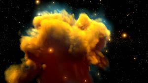 鹰状星云星空自然景观