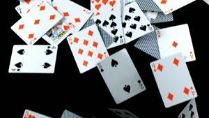 下落的扑克牌Falling Deck of Cards