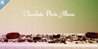 巧克力蛋糕胶片结果恋爱婚礼相册展现AE模板 Chocolate Photo Alb