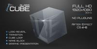 玻璃三维立方体节目包装AE模板 Glass Cube Project