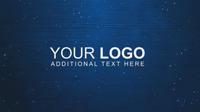 简单蓝色背景Logo展示AE模板 Simple Logo Reveal