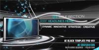 超酷的节目包装AE模板 Black Template Pro V01