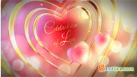 浪漫粉红的爱心记忆爱情婚礼电子相册AE模板 Celebration of Love
