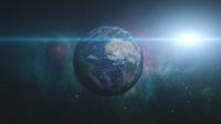 地球慢慢由远拉近自转高清实拍镜头