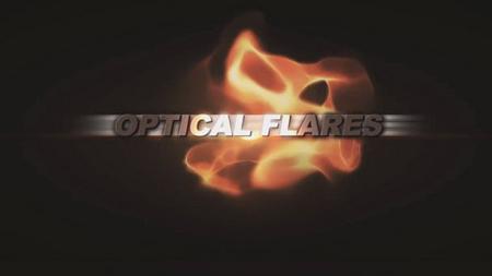 火焰字幕標題展示的AE模板 Optical Flares