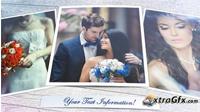温馨浪漫的婚礼相册AE模板 Wedding Moment!