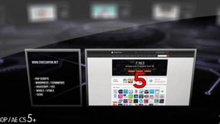 企业网站社区告白信息展现的AE模板 Website Community