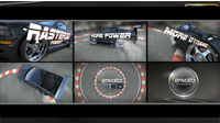 酷炫赛车Logo标志展示AE模板 Avto Logo